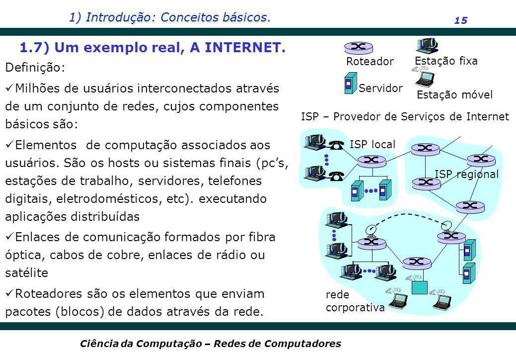 1.7) Um exemplo real, A INTERNET.