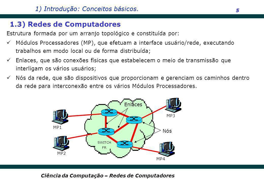1.3) Redes de Computadores