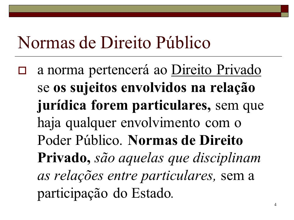 Normas de Direito Público