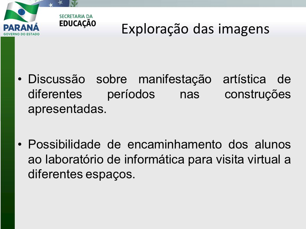 Exploração das imagens