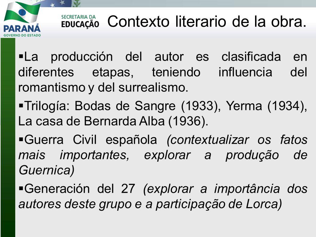 Contexto literario de la obra.
