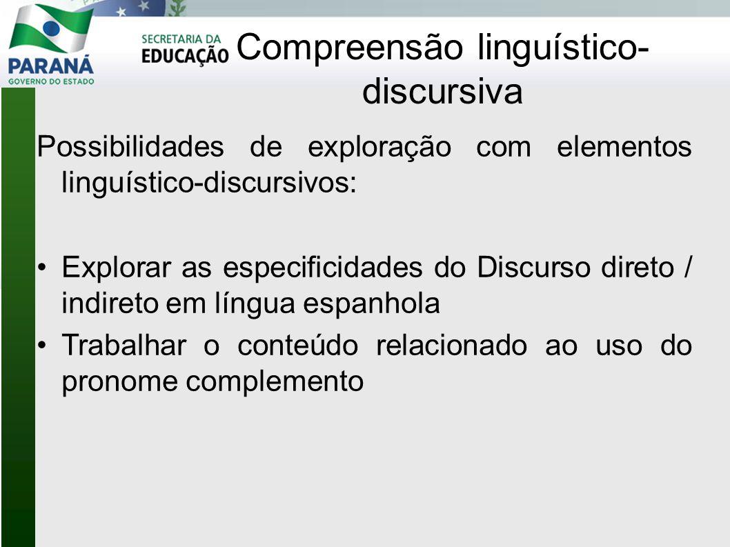 Compreensão linguístico-discursiva