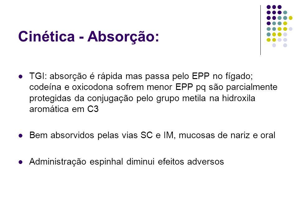 Cinética - Absorção: