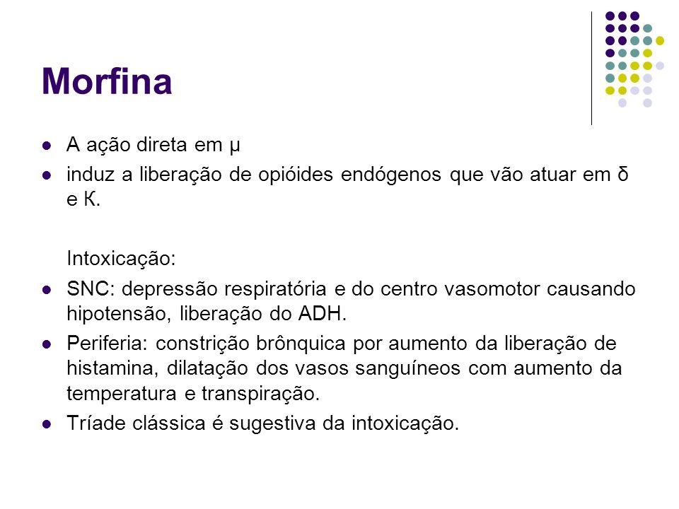 Morfina A ação direta em µ