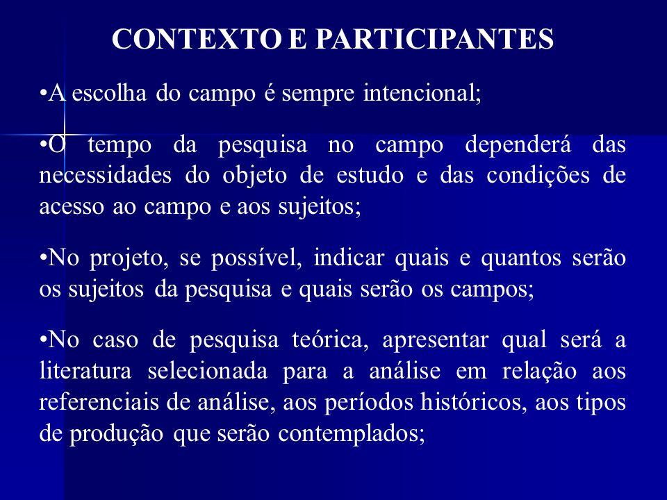 CONTEXTO E PARTICIPANTES
