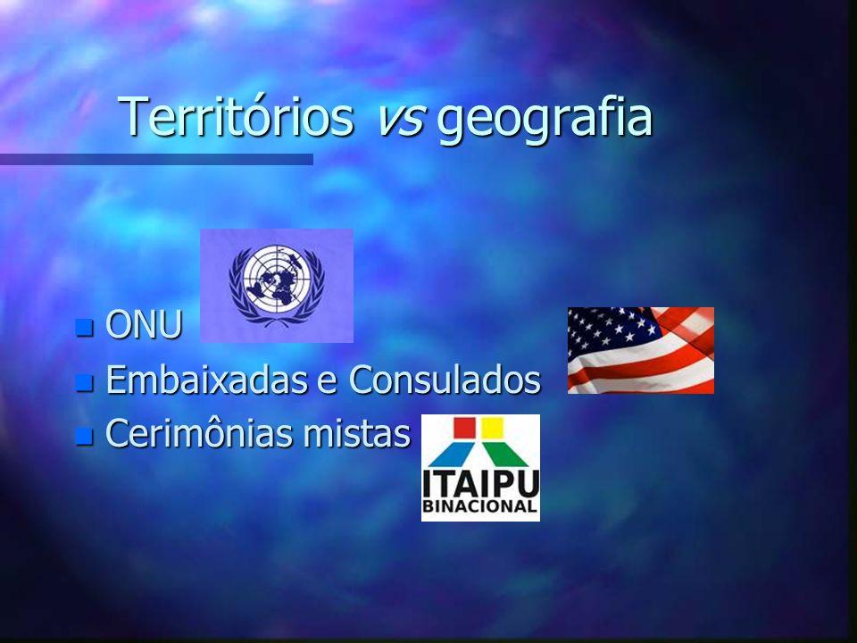Territórios vs geografia