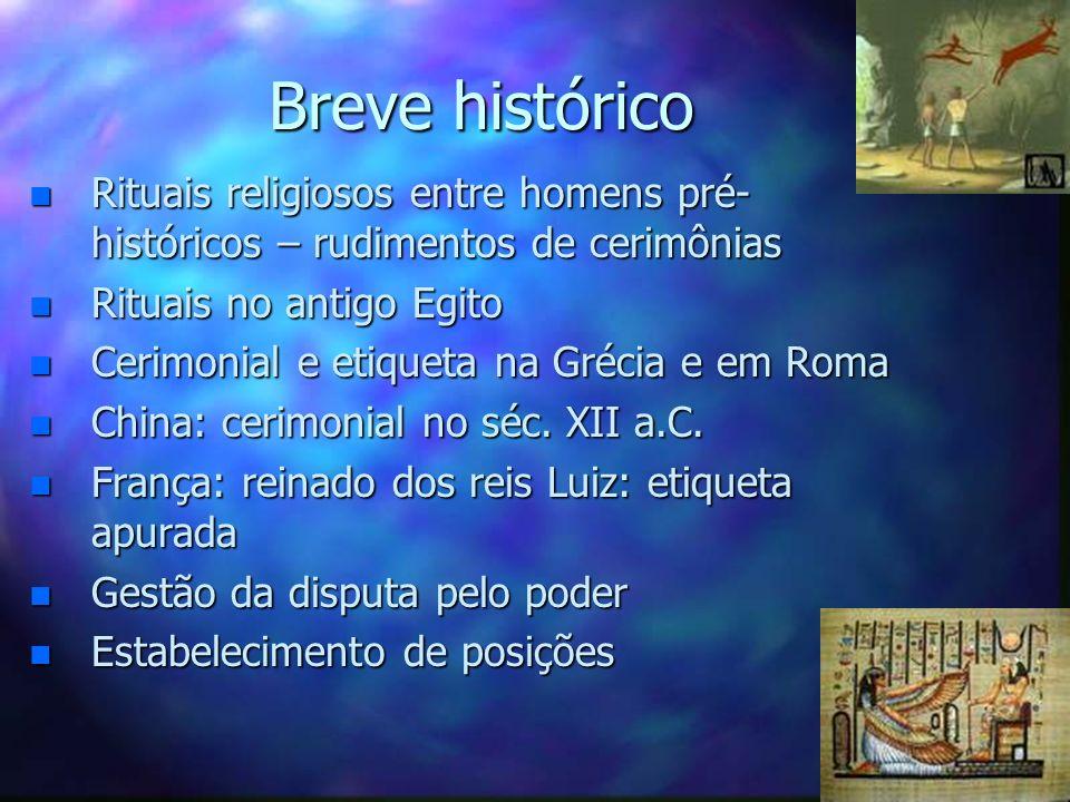 Breve históricoRituais religiosos entre homens pré-históricos – rudimentos de cerimônias. Rituais no antigo Egito.