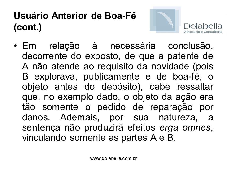 Usuário Anterior de Boa-Fé (cont.)