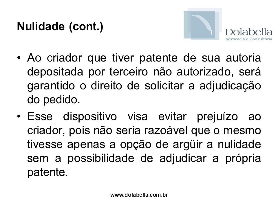 Nulidade (cont.)