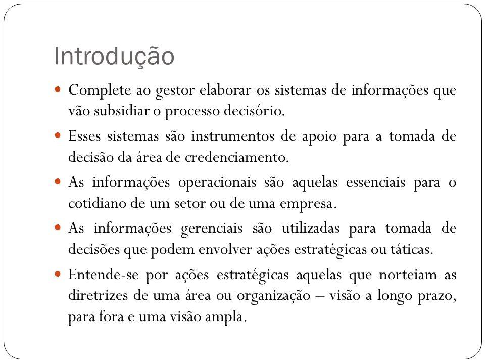 Introdução Complete ao gestor elaborar os sistemas de informações que vão subsidiar o processo decisório.