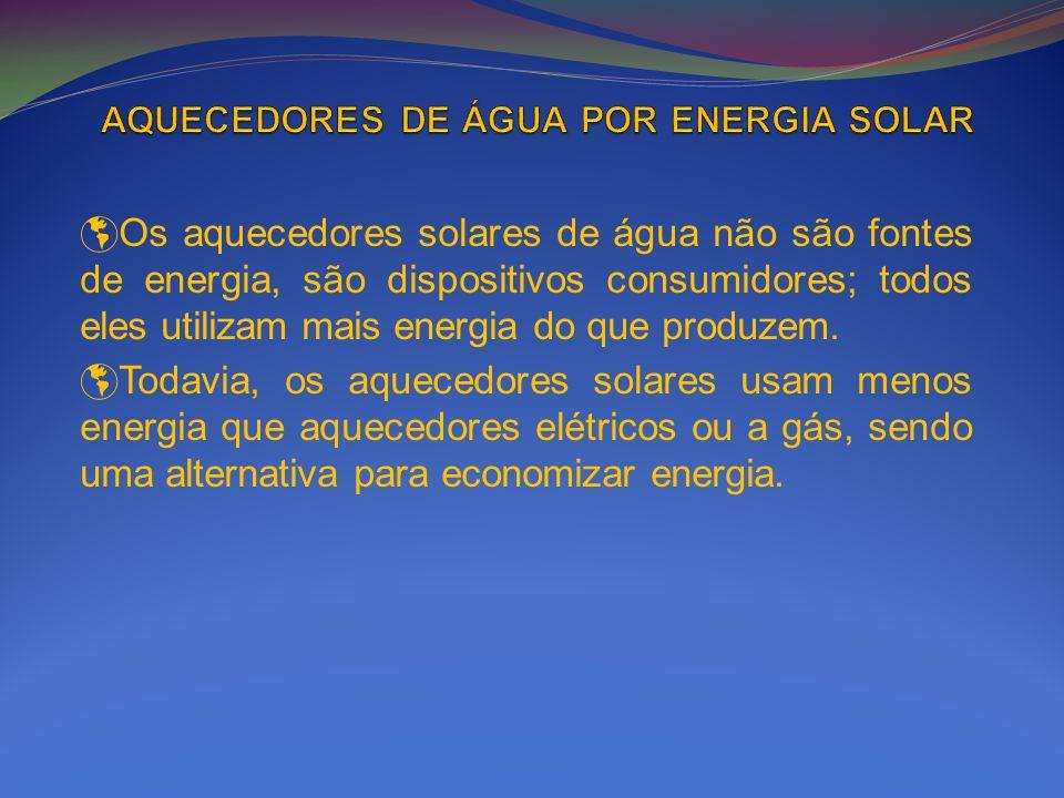 AQUECEDORES DE ÁGUA POR ENERGIA SOLAR