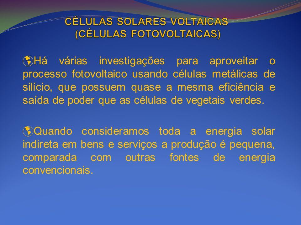 CÉLULAS SOLARES VOLTAICAS (CÉLULAS FOTOVOLTAICAS)
