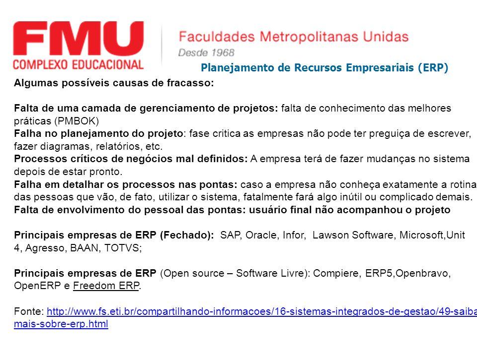 Planejamento de Recursos Empresariais (ERP)
