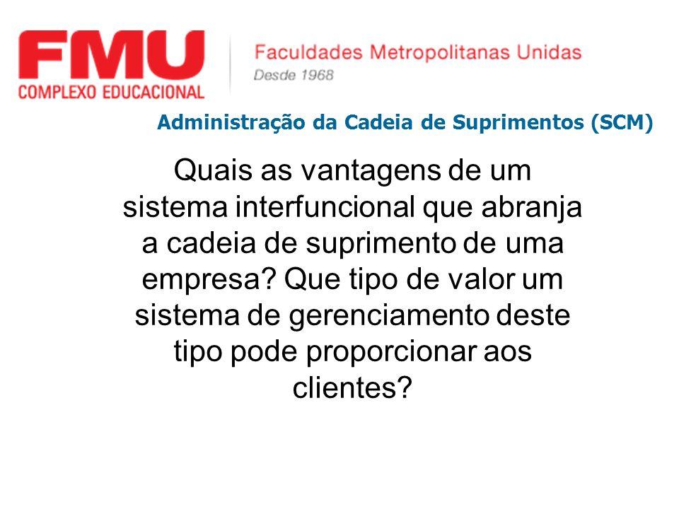 Administração da Cadeia de Suprimentos (SCM)