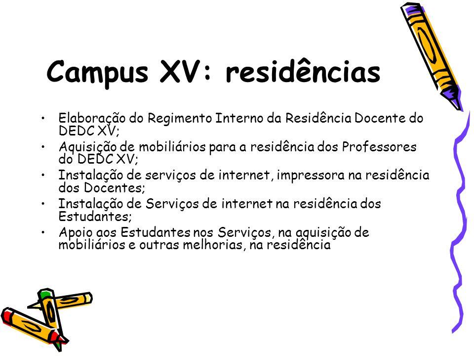 Campus XV: residências