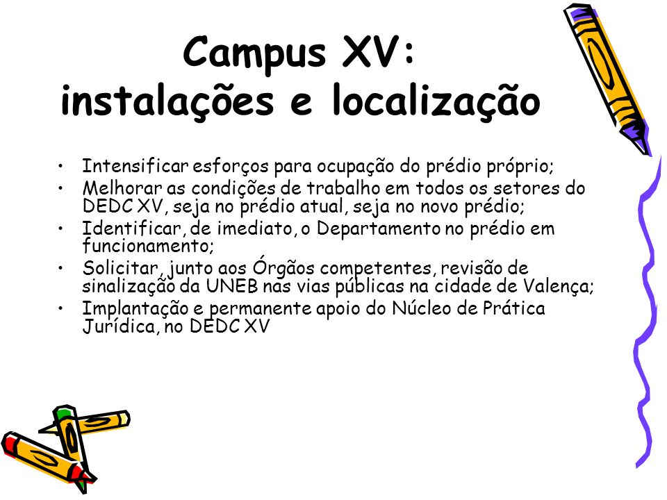 Campus XV: instalações e localização
