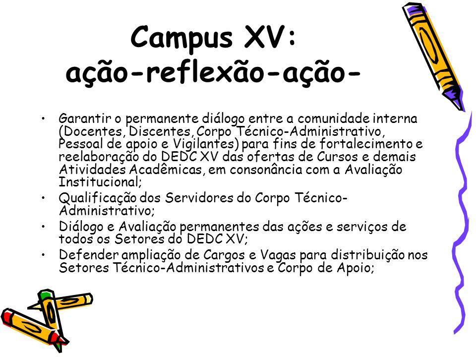 Campus XV: ação-reflexão-ação-