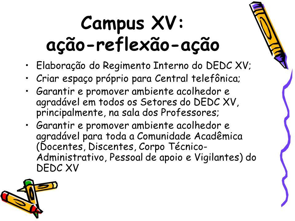 Campus XV: ação-reflexão-ação