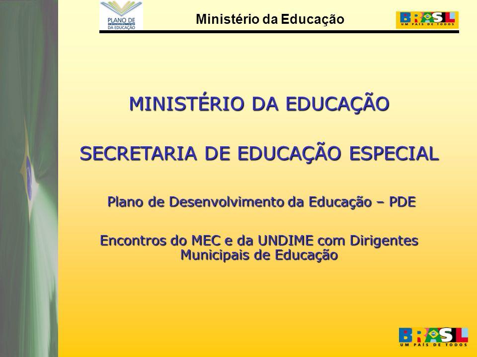 MINISTÉRIO DA EDUCAÇÃO SECRETARIA DE EDUCAÇÃO ESPECIAL