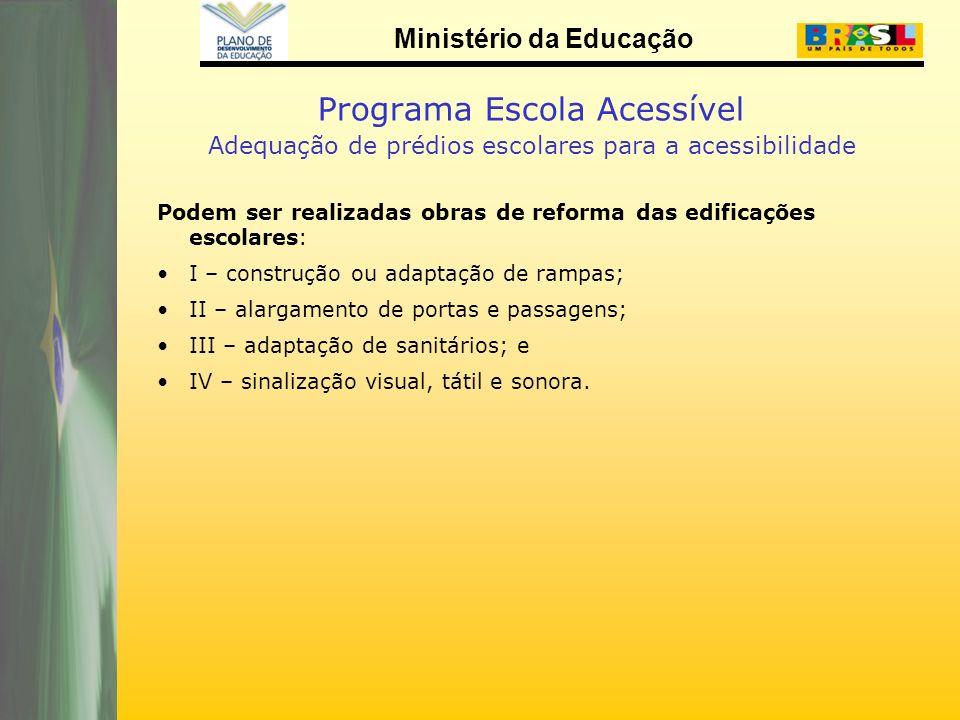 Programa Escola Acessível Adequação de prédios escolares para a acessibilidade