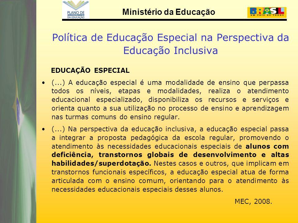 Política de Educação Especial na Perspectiva da Educação Inclusiva