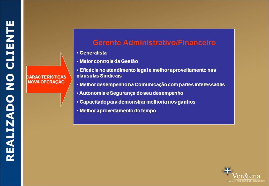 Gerente Administrativo/Financeiro