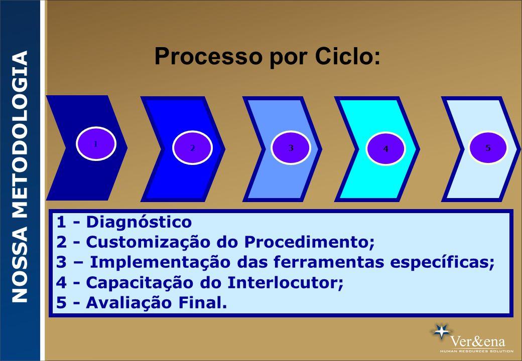 Processo por Ciclo: NOSSA METODOLOGIA 1 - Diagnóstico