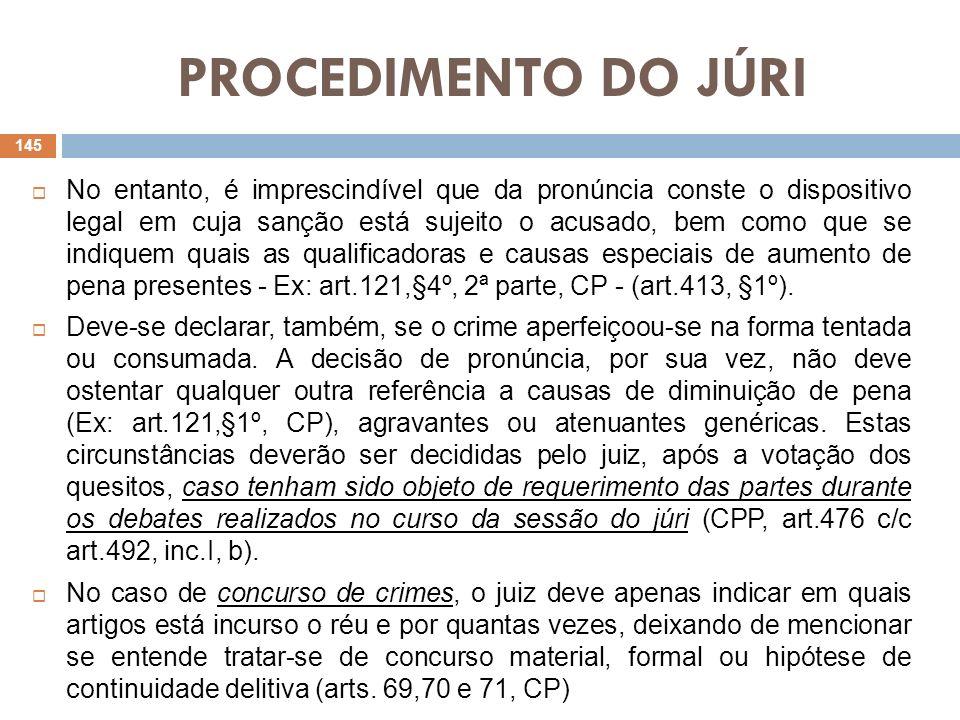 PROCEDIMENTO DO JÚRI