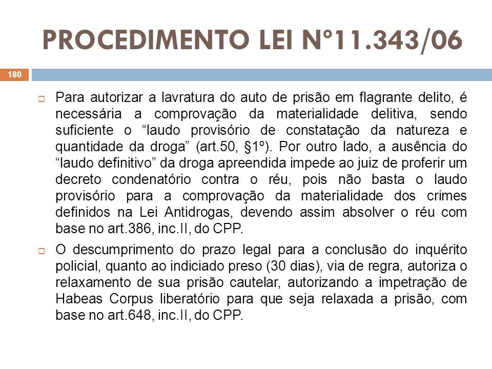 PROCEDIMENTO LEI Nº11.343/06