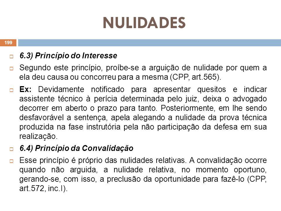 NULIDADES 6.3) Princípio do Interesse
