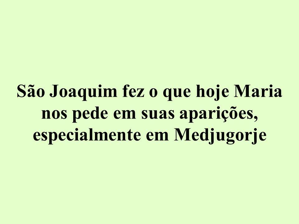 São Joaquim fez o que hoje Maria nos pede em suas aparições, especialmente em Medjugorje