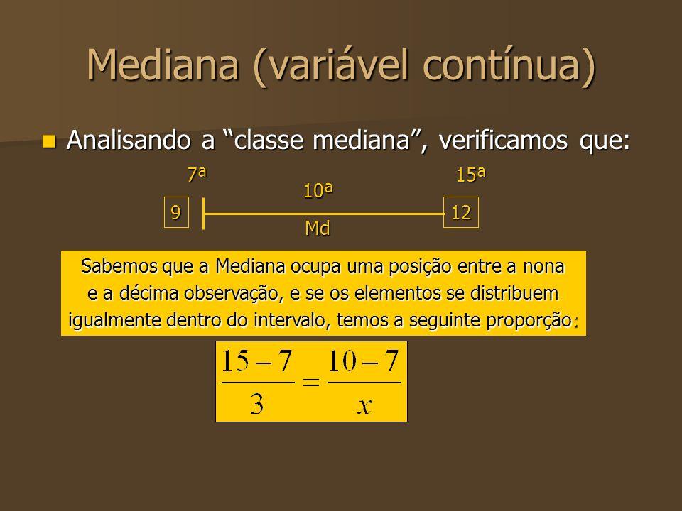 Mediana (variável contínua)
