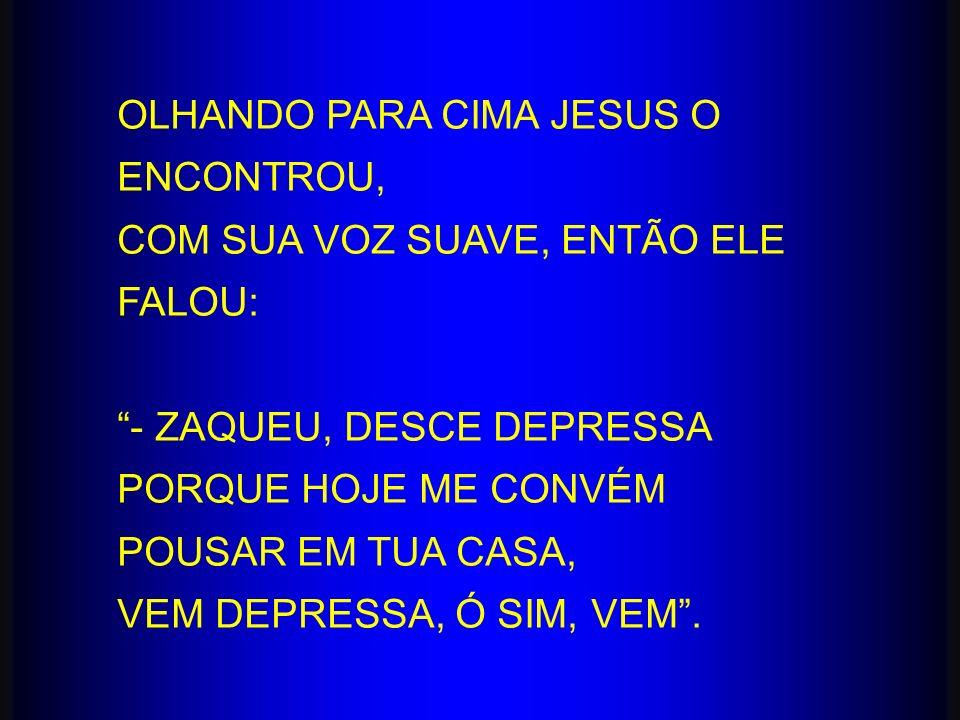 OLHANDO PARA CIMA JESUS O ENCONTROU,