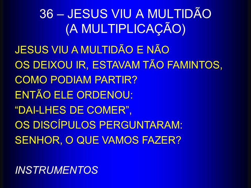 36 – JESUS VIU A MULTIDÃO (A MULTIPLICAÇÃO)