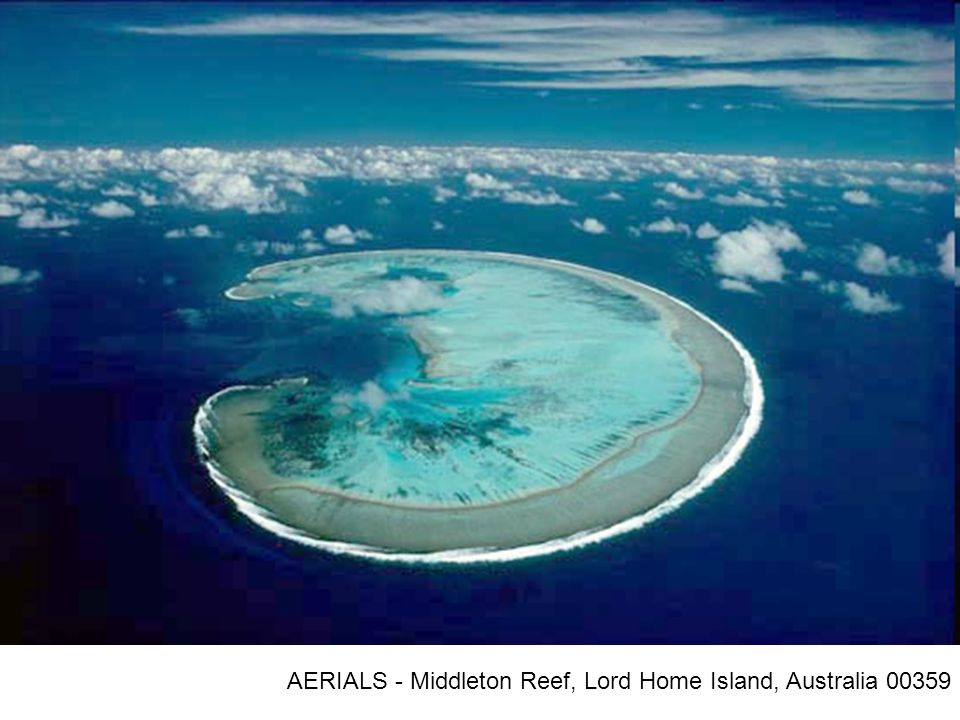AERIALS - Middleton Reef, Lord Home Island, Australia 00359