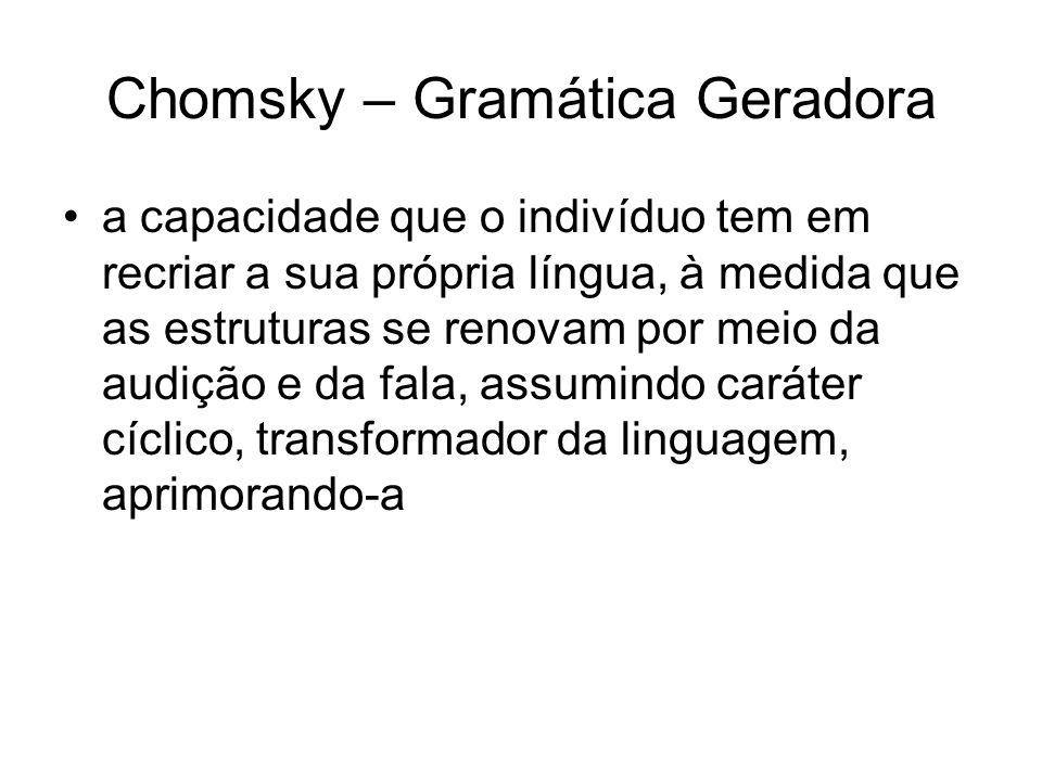 Chomsky – Gramática Geradora