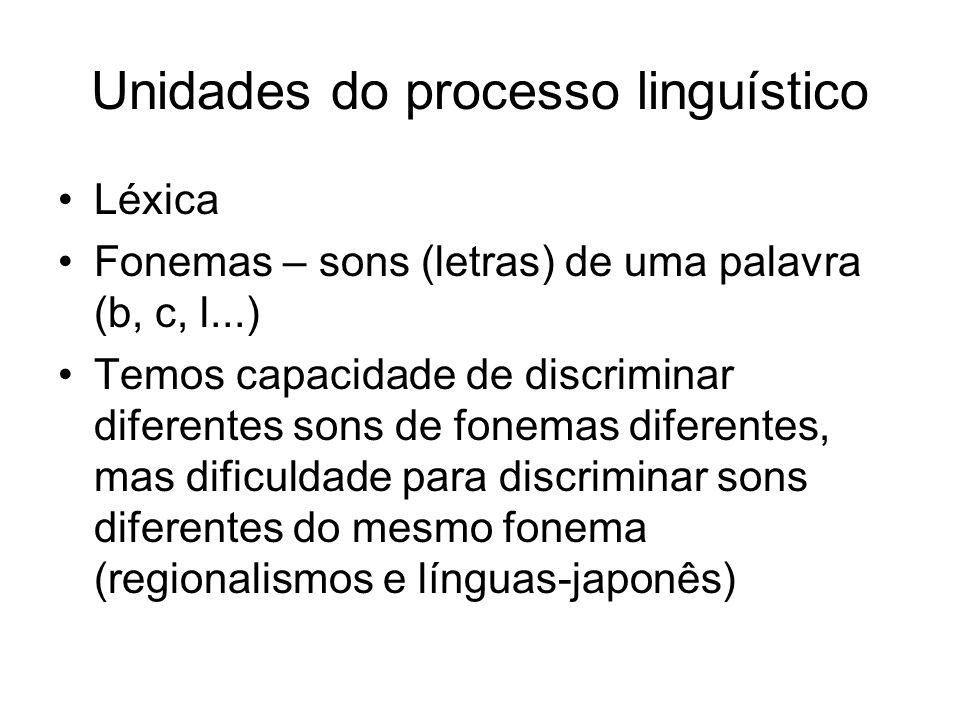 Unidades do processo linguístico