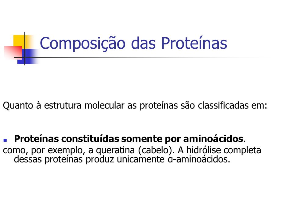 Composição das Proteínas