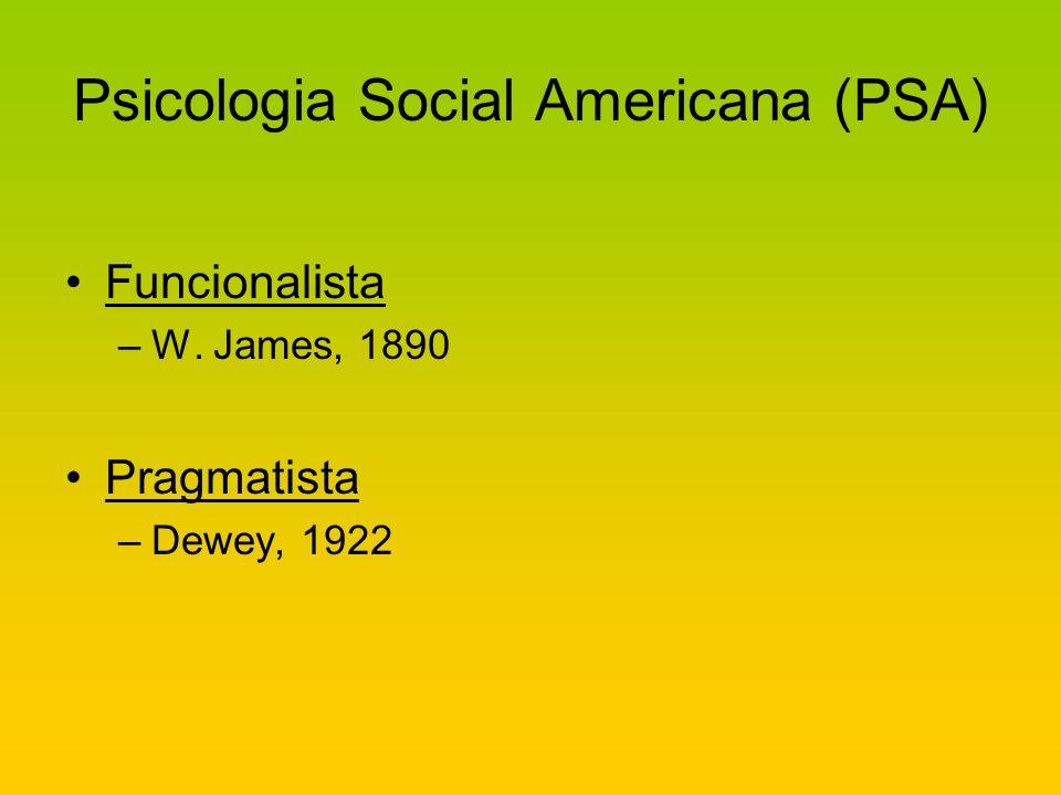 Psicologia Social Americana (PSA)