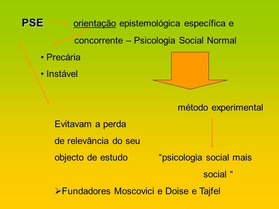 PSE orientação epistemológica específica e