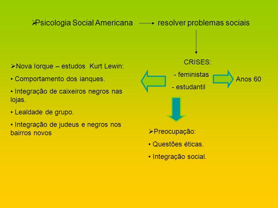 Psicologia Social Americana resolver problemas sociais
