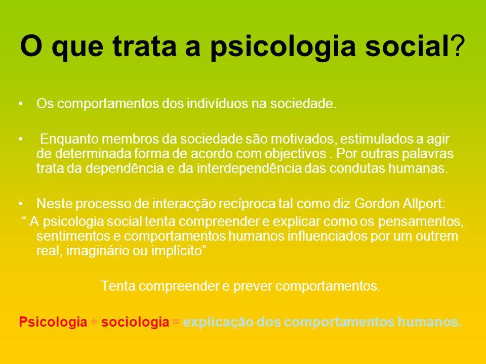 O que trata a psicologia social
