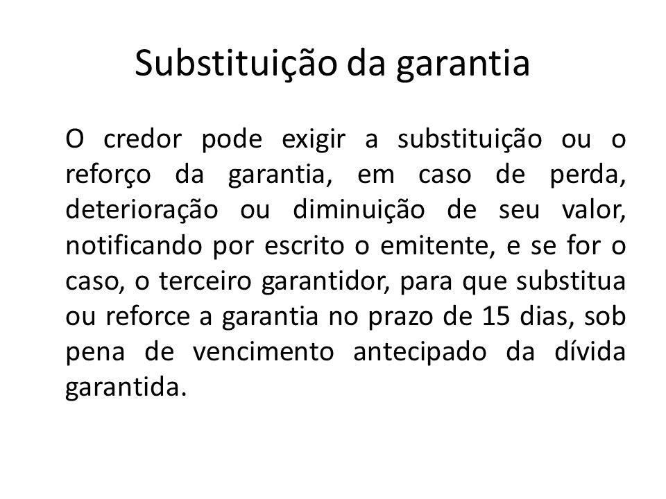 Substituição da garantia