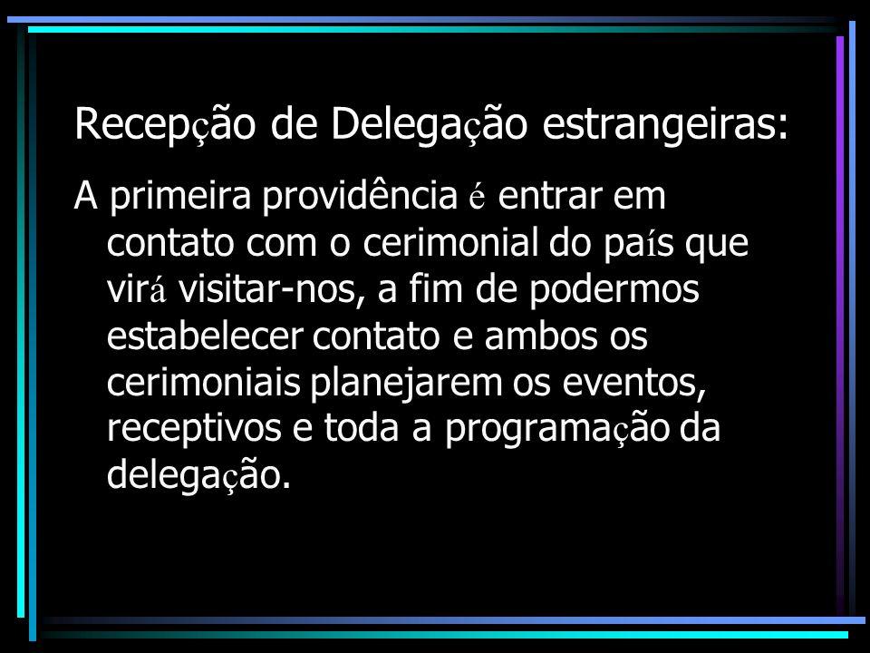 Recepção de Delegação estrangeiras:
