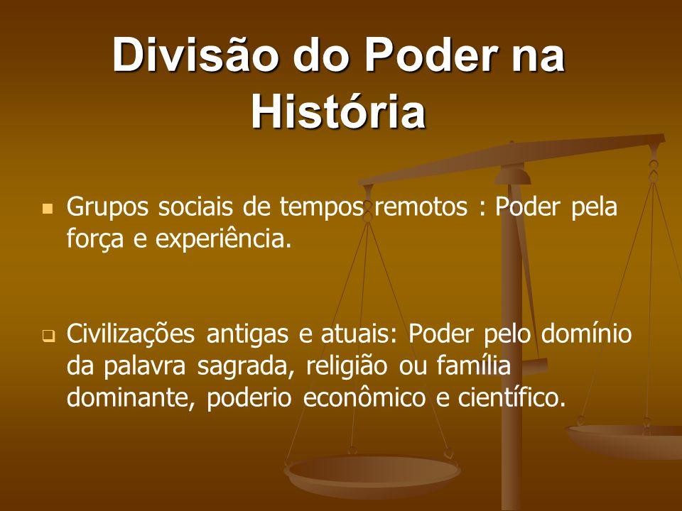 Divisão do Poder na História