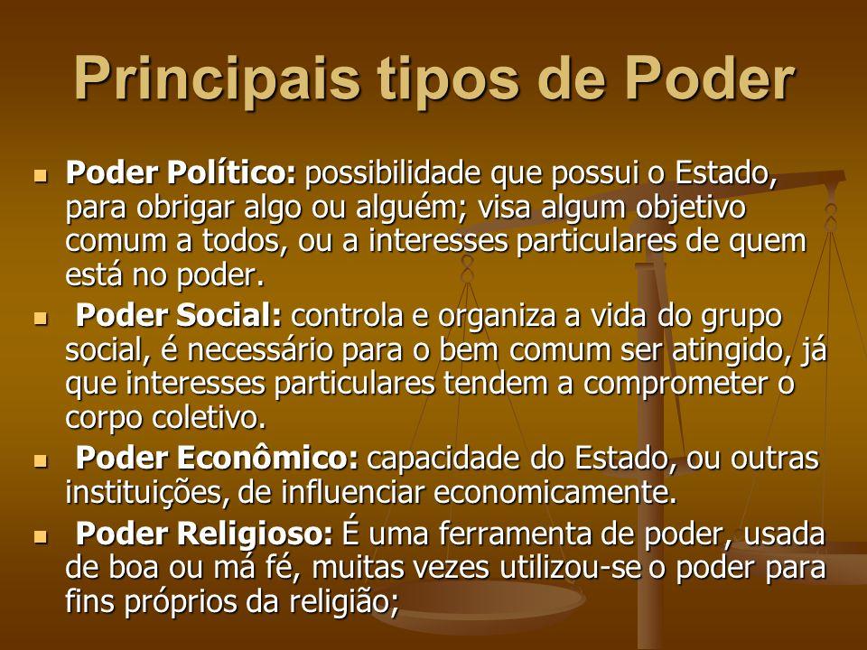 Principais tipos de Poder