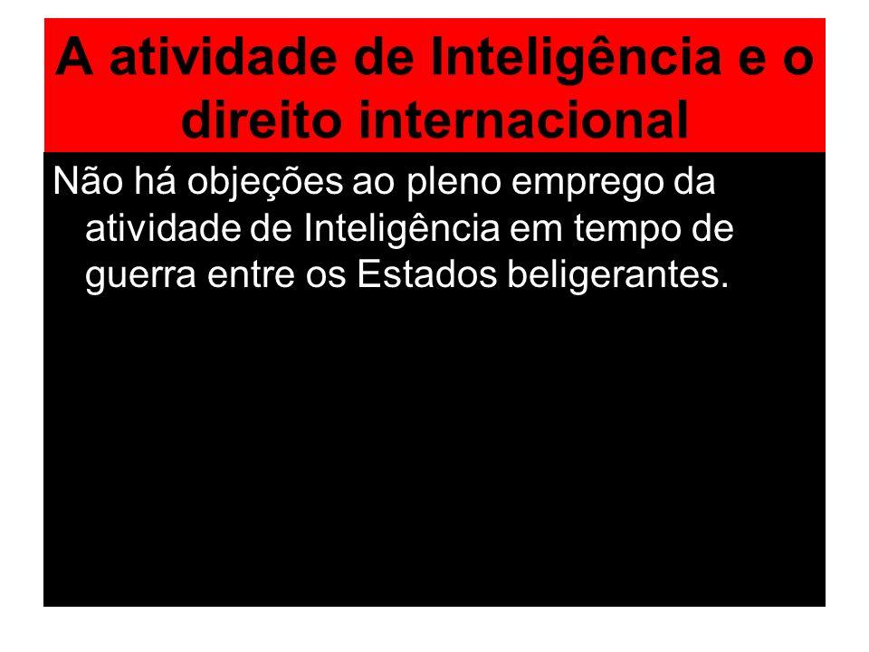 A atividade de Inteligência e o direito internacional