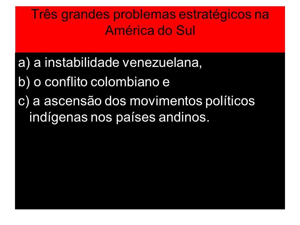 Três grandes problemas estratégicos na América do Sul