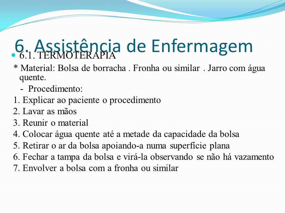 6. Assistência de Enfermagem