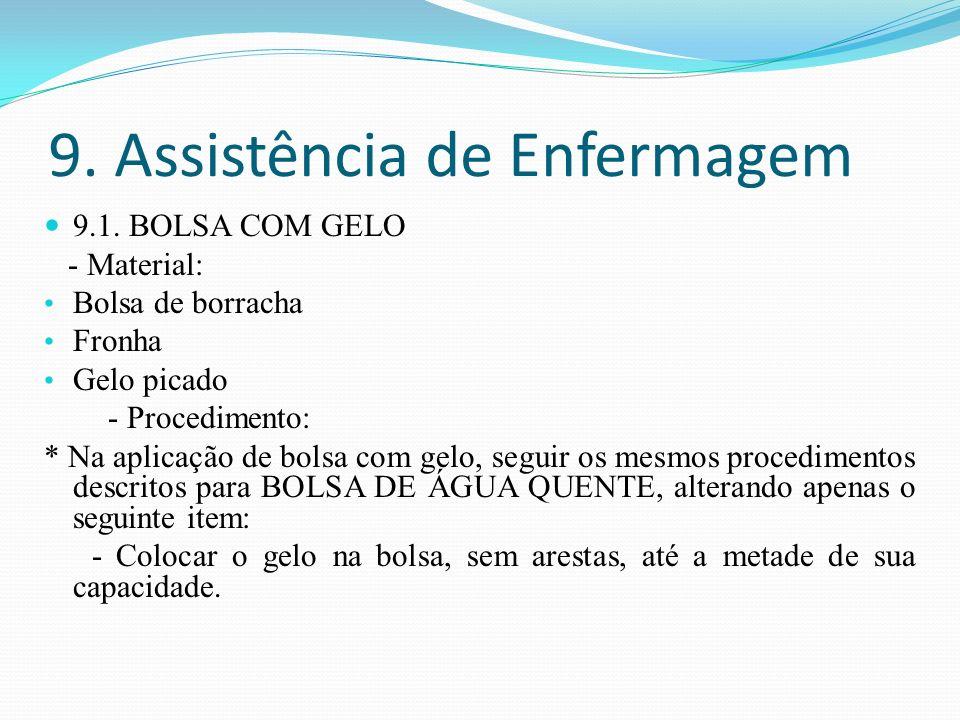 9. Assistência de Enfermagem